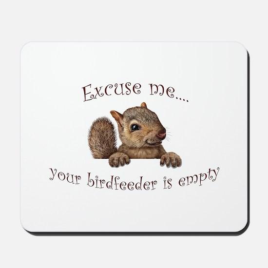 Excuse me...your birdfeeder is empty Mousepad