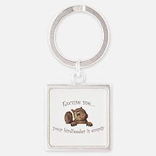 Excuse me...your birdfeeder is empty Keychains