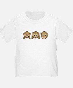 3 Wise Monkeys Emoji T-Shirt