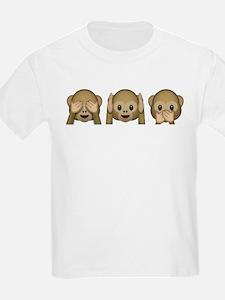 3 Wise Monkeys Emoji T-Shirt