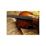 Violin music 5x7 Rugs