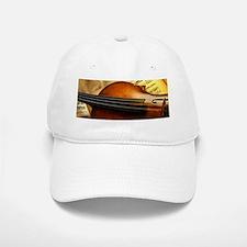 Violin On Music Sheet Baseball Baseball Cap