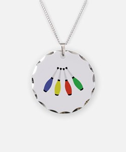 Juggling Clubs Necklace