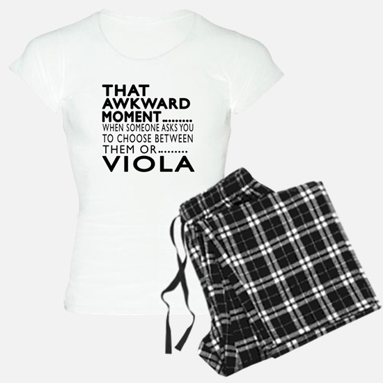 Viola Awkward Moment Design Pajamas