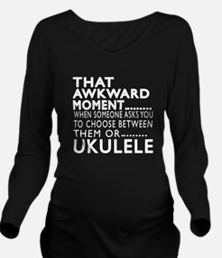 Ukulele Awkward Mome Long Sleeve Maternity T-Shirt