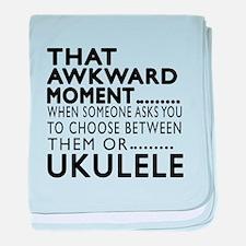 Ukulele Awkward Moment Designs baby blanket