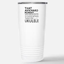 Ukulele Awkward Moment Travel Mug