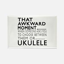 Ukulele Awkward Moment Designs Rectangle Magnet