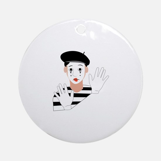 Mime Round Ornament