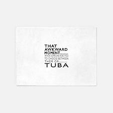 Tuba Awkward Moment Designs 5'x7'Area Rug