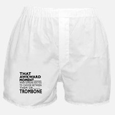 Trombone Awkward Moment Designs Boxer Shorts