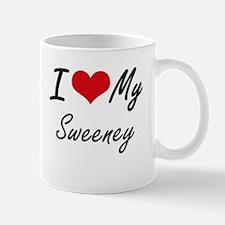 I Love My Sweeney Mugs