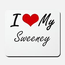 I Love My Sweeney Mousepad