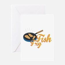 Fish Fry Food Greeting Cards