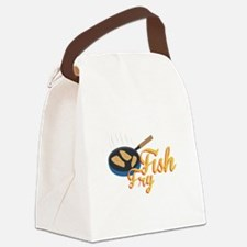 Fish Fry Food Canvas Lunch Bag