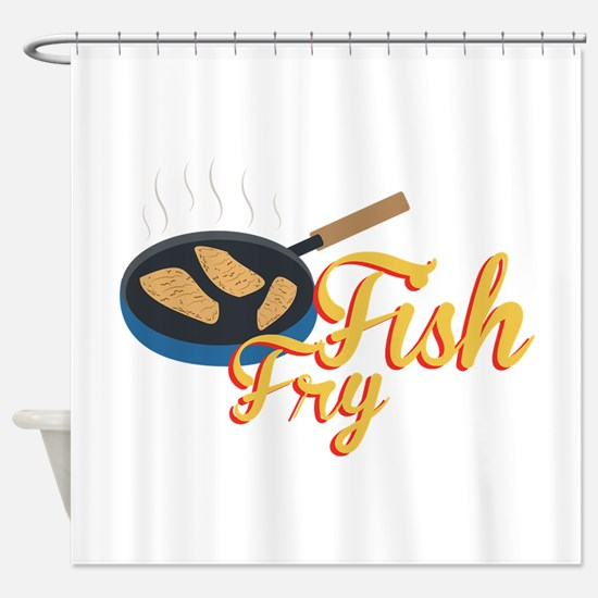 Fish Fry Food Shower Curtain