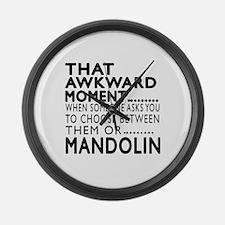 Mandolin Awkward Moment Designs Large Wall Clock