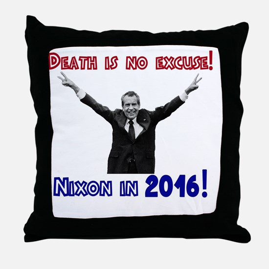Cute Richard nixon Throw Pillow