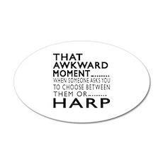 Harp Awkward Moment Designs Wall Decal
