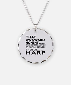 Harp Awkward Moment Designs Necklace Circle Charm