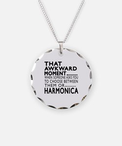 Harmonica Awkward Moment Des Necklace