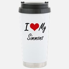 I Love My Simmons Stainless Steel Travel Mug