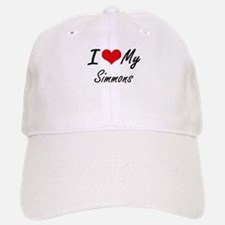 I Love My Simmons Baseball Baseball Cap