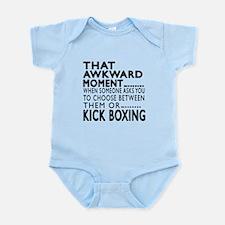 Kick Boxing Awkward Moment Designs Infant Bodysuit