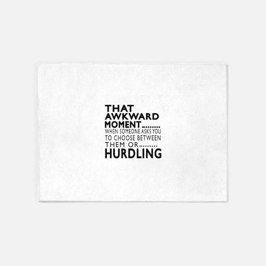 Hurdling Awkward Moment Designs 5'x7'Area Rug