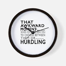 Hurdling Awkward Moment Designs Wall Clock