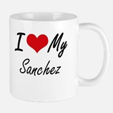 I Love My Sanchez Mugs