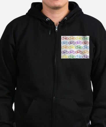 Rack O' Bicycles Zip Hoodie (dark)