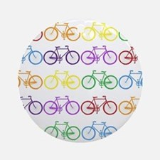 Rack O' Bicycles Round Ornament