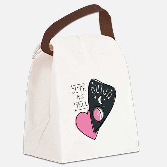 Cute As Hell Canvas Lunch Bag