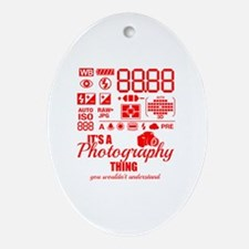 Cute Photography Oval Ornament