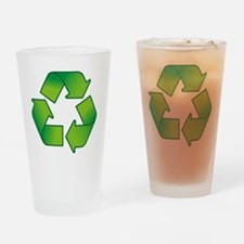 Funny Recycle symbol Drinking Glass