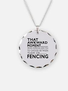 Fencing Awkward Moment Desig Necklace