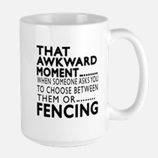 Fencing Awkward Moment Designs Mug