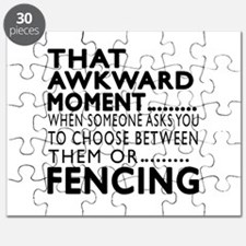 Fencing Awkward Moment Designs Puzzle