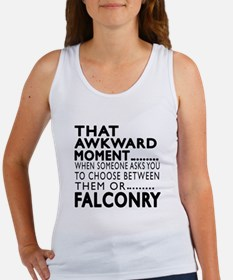 Falconry Awkward Moment Designs Women's Tank Top