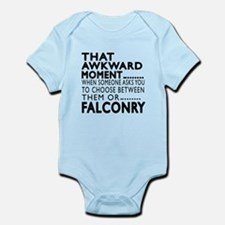 Falconry Awkward Moment Designs Onesie