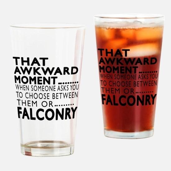Falconry Awkward Moment Designs Drinking Glass