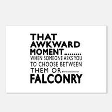 Falconry Awkward Moment D Postcards (Package of 8)