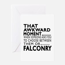 Falconry Awkward Moment Designs Greeting Card