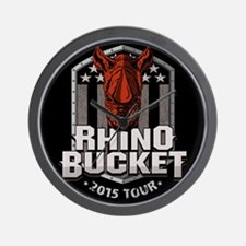 Rhino Bucket Wall Clock