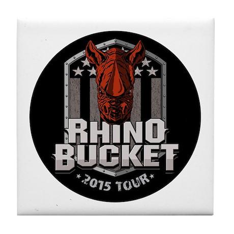 Rhino Bucket Tile Coaster