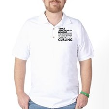 Curling Awkward Moment Designs T-Shirt