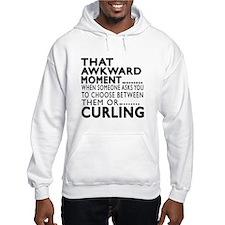 Curling Awkward Moment Designs Hoodie Sweatshirt