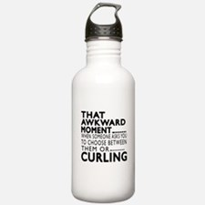 Curling Awkward Moment Water Bottle