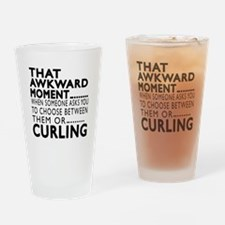Curling Awkward Moment Designs Drinking Glass
